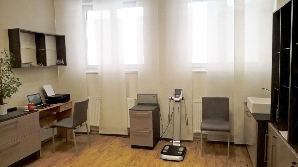 Moje kancelář sdiagnostickým přístrojem InBody 230
